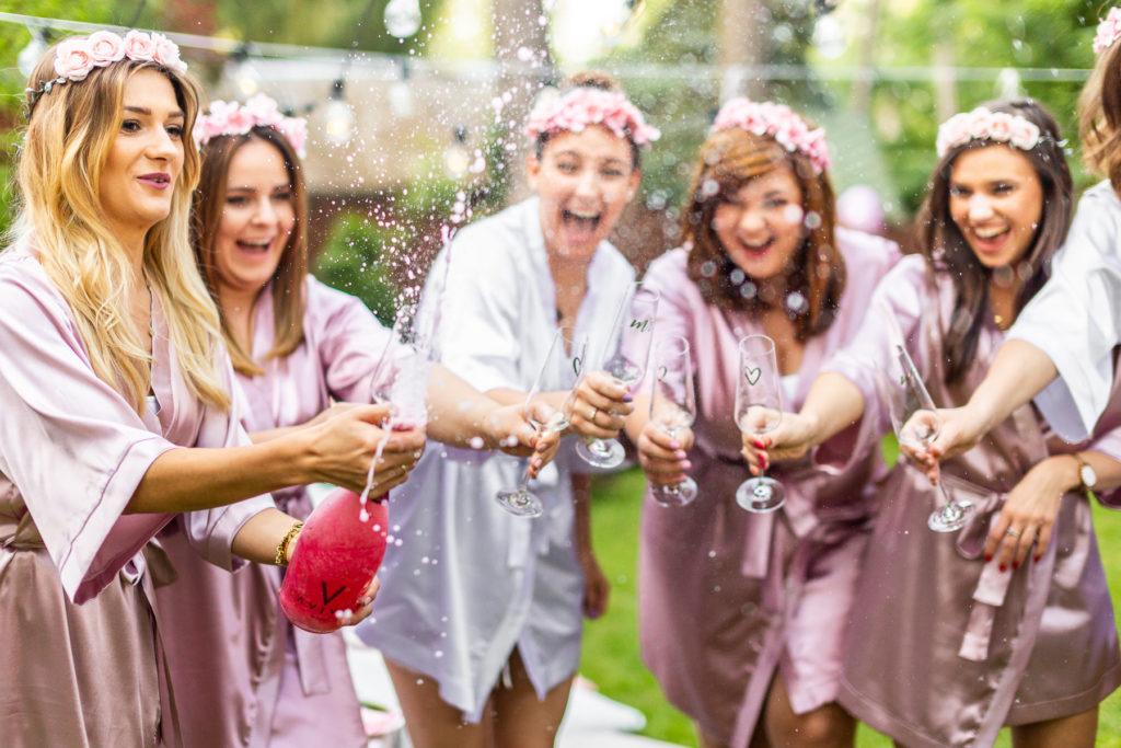 szampan ślub wesele wino dziewczyny polskie szlafrok detale ślub