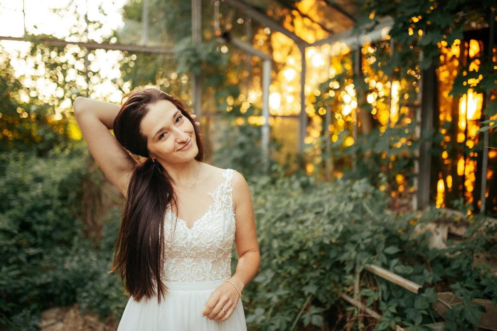naturalna panna młoda ślub bez bez