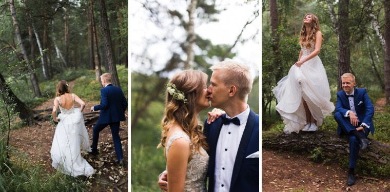 Sesja ślubna w lesie pod Krakowem