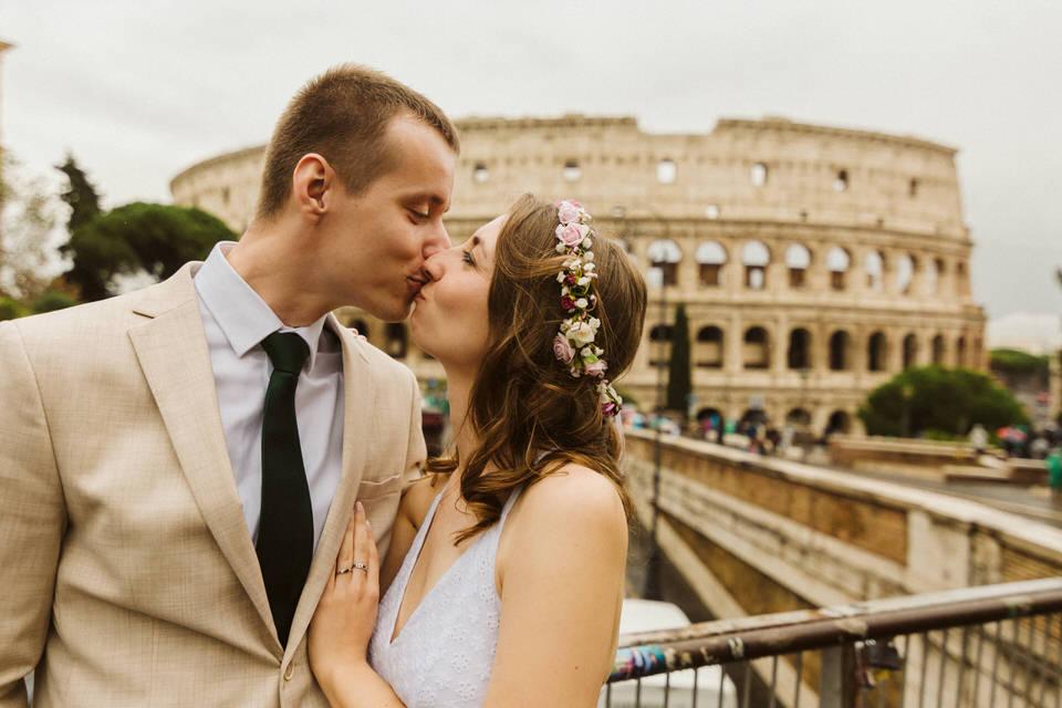 Sesja ślubna w Rzymie - fotograf Koloseum